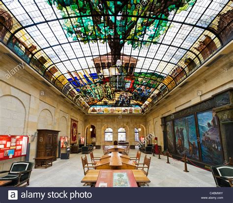 The Tree Of Gernika Stained Glass Ceiling In The Assembly