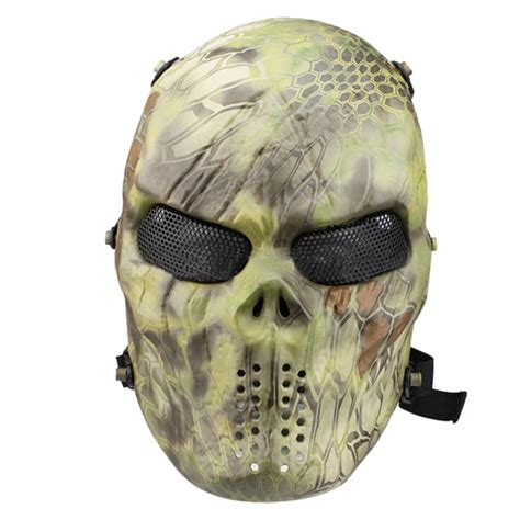 full face skull mask militarytactical airsoft paintball