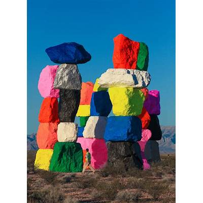 Painted desert: Ugo Rondinone erects a fluorescent stone