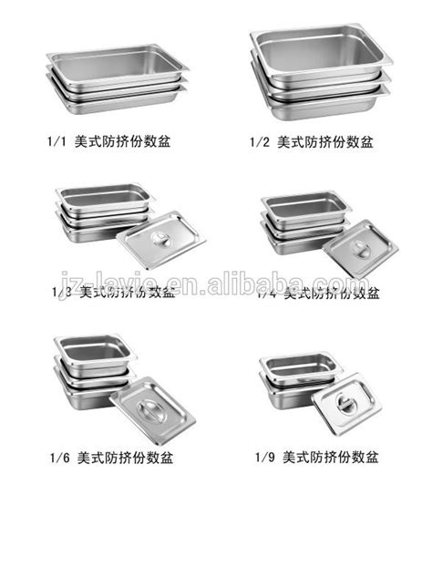0.8mm Thickness American Gastronorm Pans Lids - Buy 0.8mm
