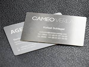 Visitenkarten Auf Rechnung Bestellen : metall visitenkarten mit fr sung oder gravur bestellen ~ Themetempest.com Abrechnung