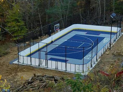 backyard rink kit d1 backyard rinks synthetic basement or backyard