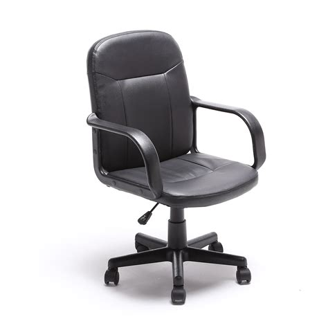 modern leather desk chair black modern office executive chair pu leather computer