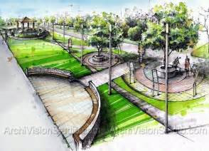 Marker Rendering Landscape Architecture Plan