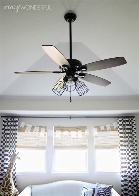 ceiling fan with cage light diy cage light ceiling fan wonderful