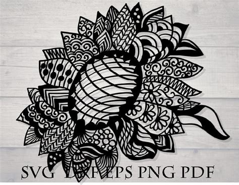 All over facebook craft groups, i've seen stunning layered cardstock projects. Sunflower svg file for cricut mandala zentangle | Etsy ...