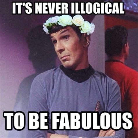 Star Meme - i love how everyone is so focused on the hilariousness of spock in a flower crown that no one