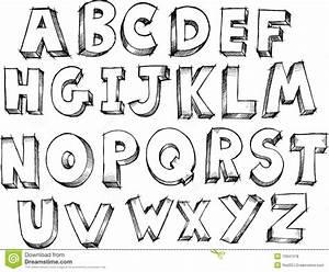 De Schetsmatige Vector Van Het Alfabet Vector Illustratie Illustratie bestaande uit vector