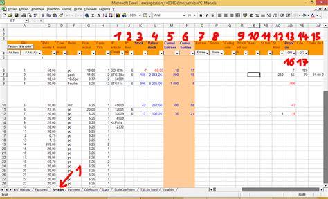 excelgestion facturation et gestion de stock simple et efficace enti 232 rement param 233 trable