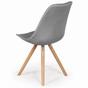 Chaise Scandinave Grise : chaises scandinaves ida tissu gris lot de 4 pas cher ~ Melissatoandfro.com Idées de Décoration