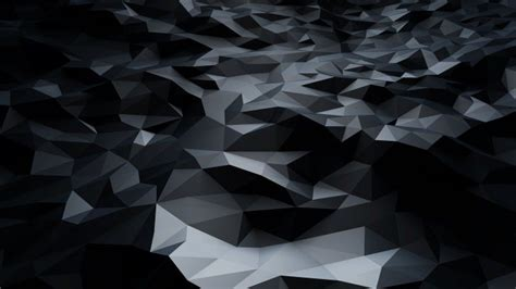Abstract Black Low Poly Wallpaper - 3D HD Wallpapers
