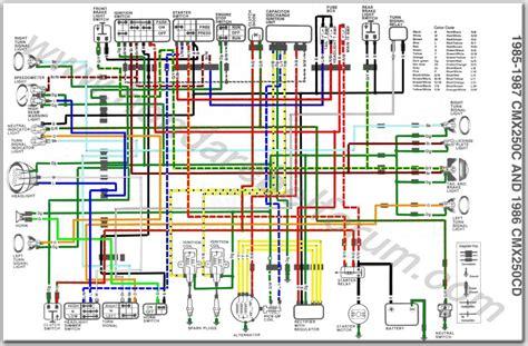 Honda Rebel Schematic by Honda Rebel 250 Electrical Schematic