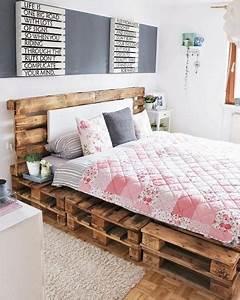 Comment Faire Un Lit En Palette : comment faire un lit en palette diy et inspirations ~ Nature-et-papiers.com Idées de Décoration