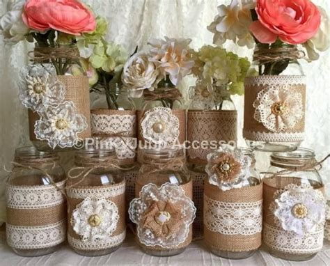 best 25 mason jar burlap ideas on pinterest mason jar
