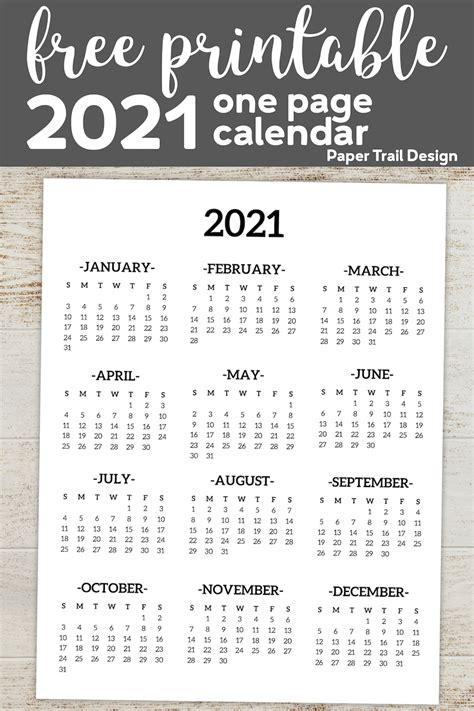 calendar  printable  page paper trail design