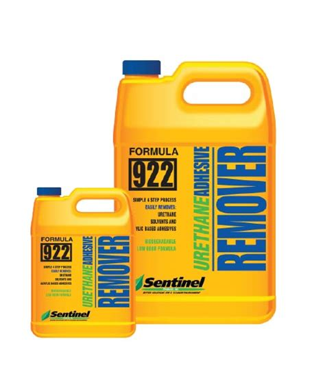 urethane adhesive remover sentinel restoration products