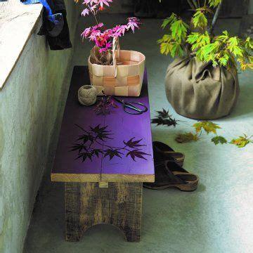 peindre  banc de feuilles derable en ton sur ton