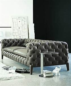 le canape design italien en 80 photos pour relooker le salon With tapis yoga avec canapé capitonné cuir marron