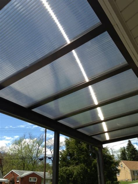 polycarbonate patio roof panels patio covers bronze translucent panels modern