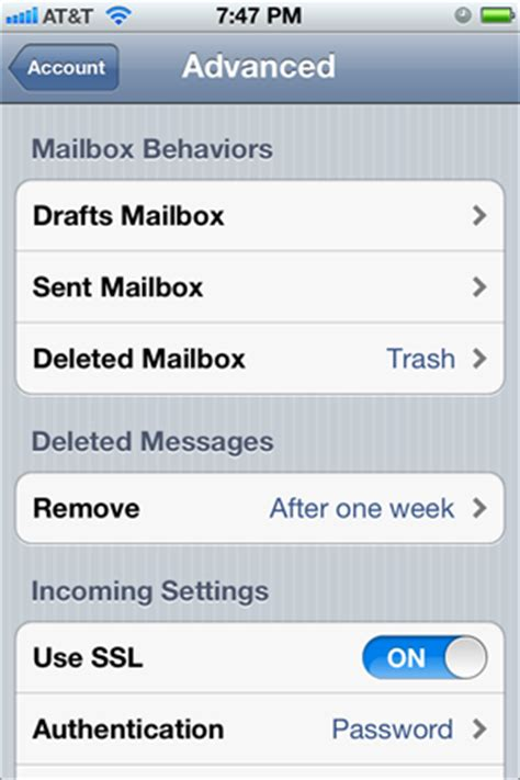 settings for iphone settings to adjust on your iphone for deleting mail