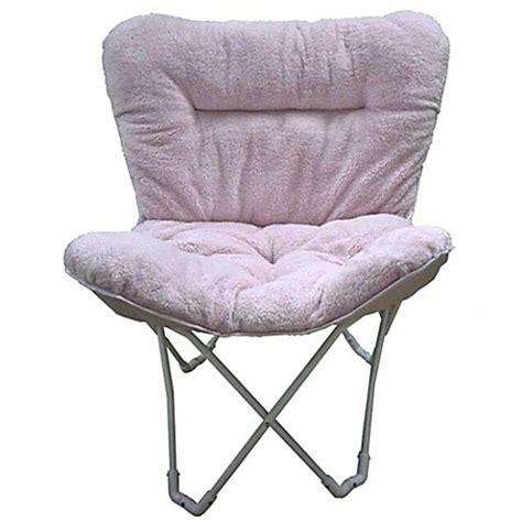 folding plush butterfly chair bed bath