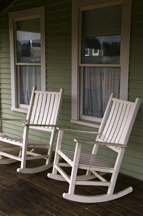 rocking chairs on the porch by todd gipstein