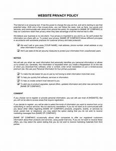 website privacy policy template sample form biztreecom With customer privacy policy template