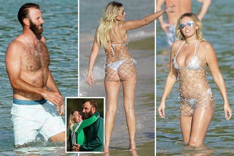 Dustin Johnson's fiancee Paulina Gretzky stuns in white ...