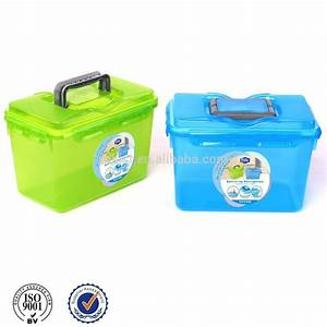 Boite Plastique De Rangement : bo te de rangement en plastique avec poign e bo tes ~ Dailycaller-alerts.com Idées de Décoration