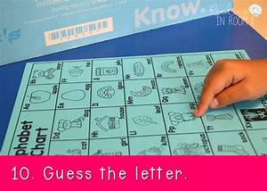 10 ways to use an alphabet chart reading in room 11 With guess the letter