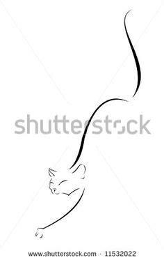 Gevonden op pinterest.com via Google | Cat tattoo designs
