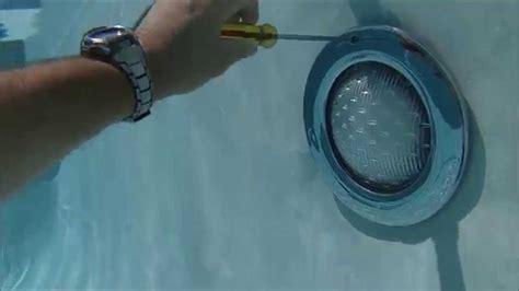 pool light niche grounding pool light niche underwater video of light fixture being