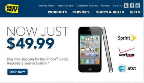 best iphone to buy best buy offering the iphone 4 for 50