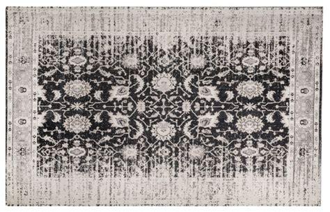 vintage teppich yosh 170 x 240 cm grau schwarz teppich vintage