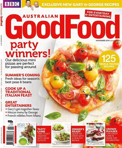 magazines cuisine dig in to the issue of australian goodfood magazine