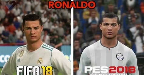 fifa   pes  gameplay graphics compared