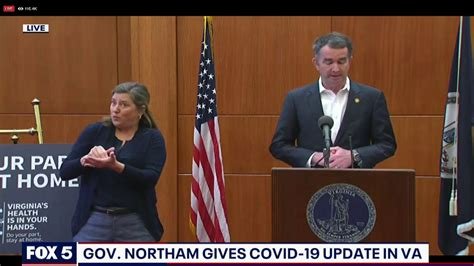 virginia gov ralph northam issues stay  home