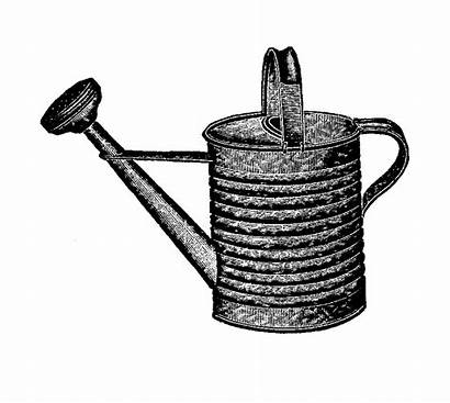 Watering Garden Clipart Tool Antique Graphic Illustration