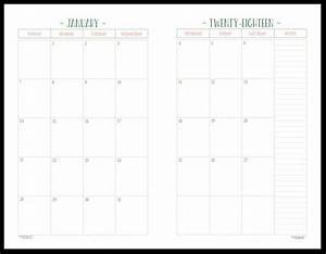 two page per month 2018 dated calendars are ready With two page monthly calendar template