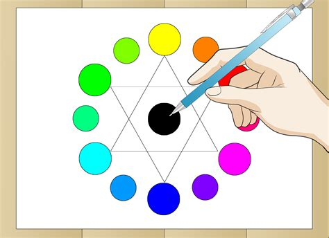 a color wheel how to draw a color wheel 6 steps with pictures wikihow
