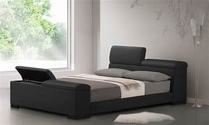 Furniture Light Brown Wooden Platform Bed With Double