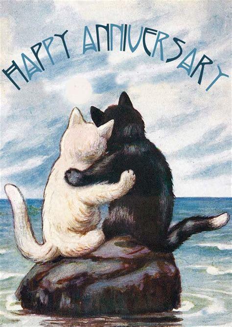 madame treacle cats moon anniversary card mtsa