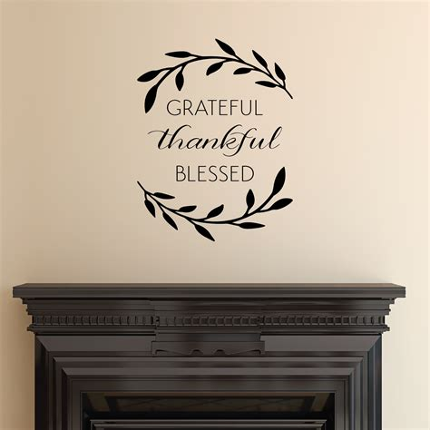 grateful thankful blessed wall quotes decal wallquotescom