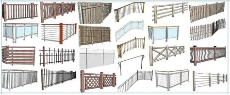 horizontal wood fences instant fence and railing sketchup extension warehouse