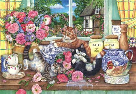 jigsaw puzzle kittens   kitchen  pc  anatolian