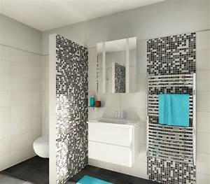 Mosaik Fliesen Badezimmer : keramik mosaik fliesen setzen sch ne akzente schwarz wei ~ Michelbontemps.com Haus und Dekorationen