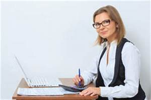 Bored Female Office Worker At Desk Stock Image - Image ...