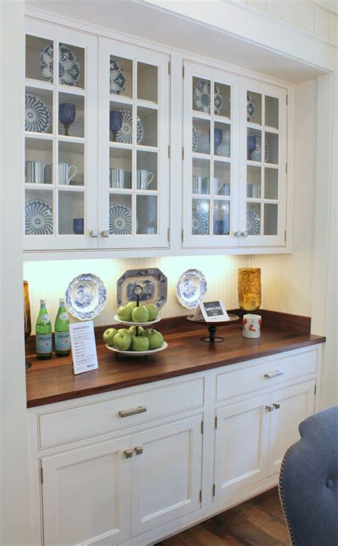 built in china hutch southern living idea house breakfast area built in cabinet