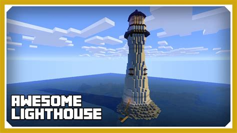minecraft   build  lighthouse tutorial survival minecraft build youtube