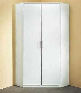 Meuble D Angle Chambre : armoire d 39 angle click blanc ~ Teatrodelosmanantiales.com Idées de Décoration